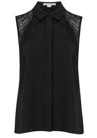 COOPER AND ELLA Vera Lace Shirt - Black