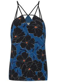 COOPER AND ELLA Ellie Strappy Cami Top - Black Floral Print
