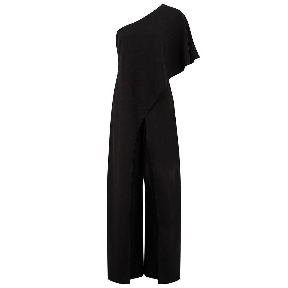 One Shoulder Jumpsuit - Black