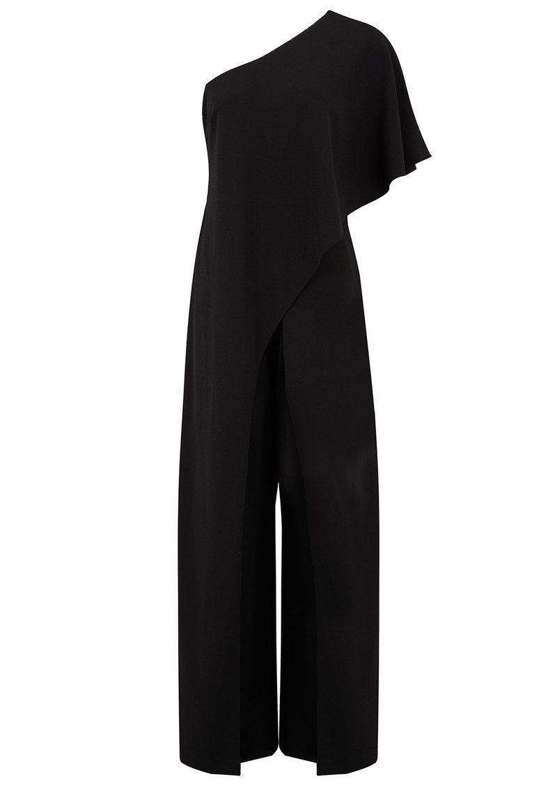4780a94beed ADRIANNAPAPELL One Shoulder Jumpsuit - Black main image ...