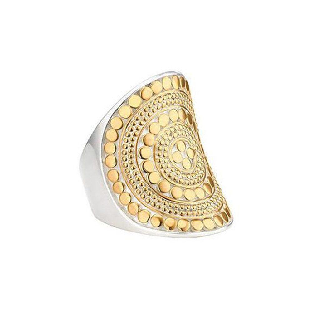 Beaded Saddle Ring - Gold
