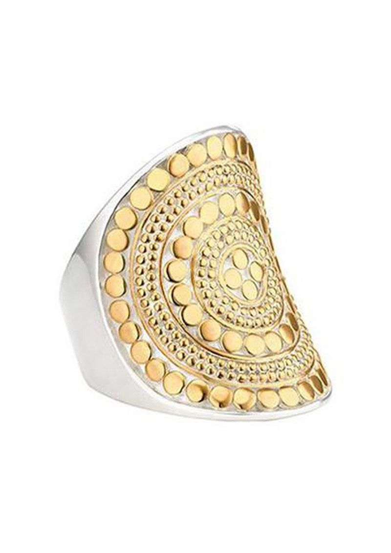 Beaded Saddle Ring - Gold main image