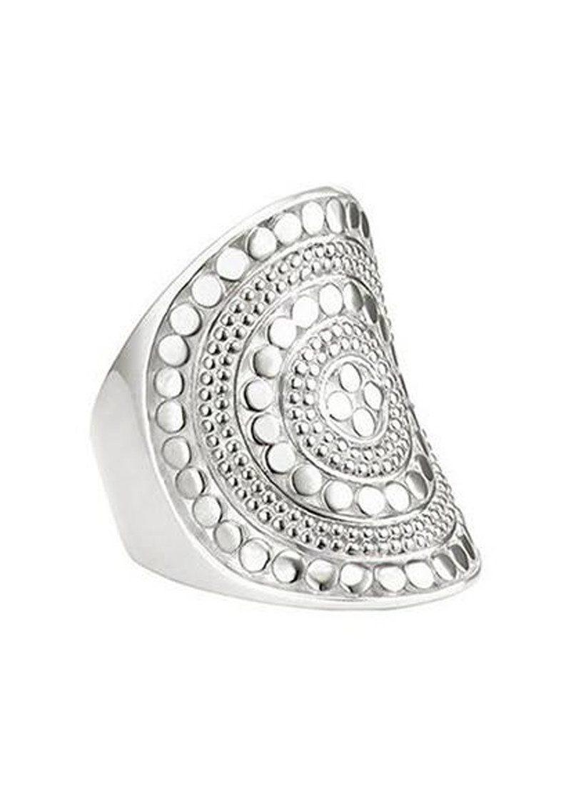 ANNA BECK Beaded Saddle Ring - Silver main image