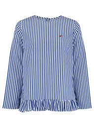 MAISON LABICHE Coccinelle Striped Top - Blue Stripes