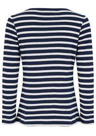 MAISON LABICHE Femme Fatale Long Sleeve Stripe Tee - Blue & White