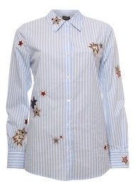 Maison Scotch Long Sleeve Shirt with Star Embroidery - Colour 998
