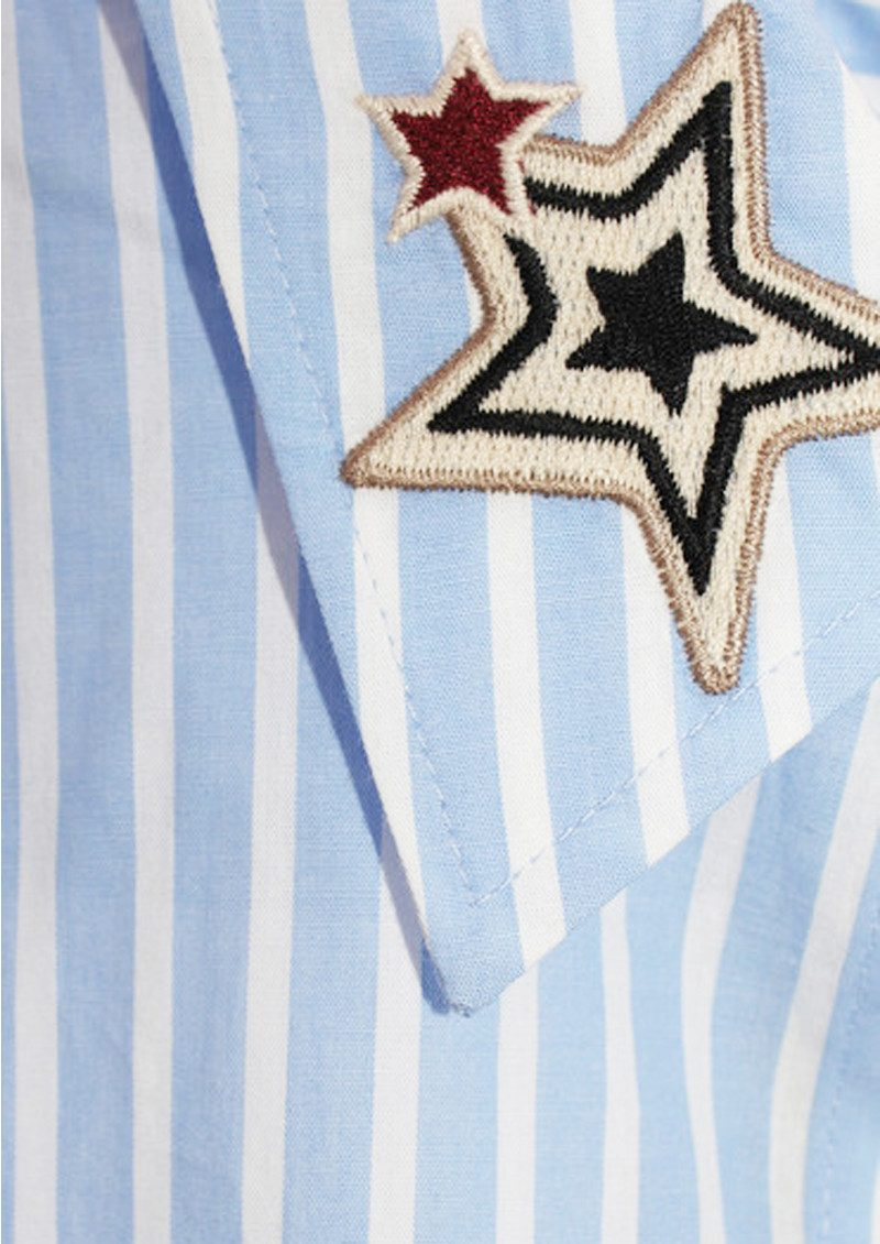 Maison Scotch Long Sleeve Shirt with Star Embroidery - Colour 998 main image