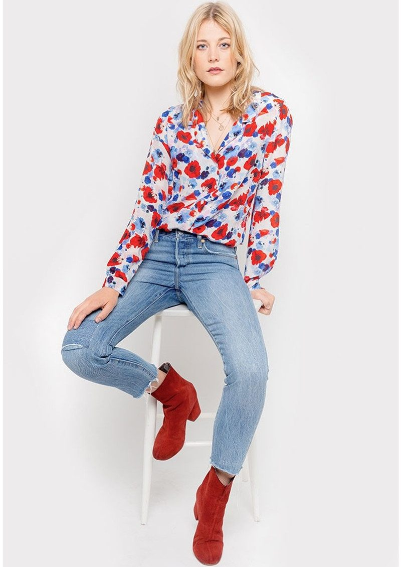 Lily and Lionel Girlfriend Silk Shirt - Poppy White main image