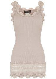 Rosemunde Wide Lace Silk Blend Vest - Atmosphere