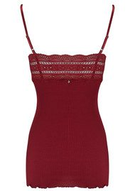 Rosemunde Wide Lace Strap Top - Cabernet