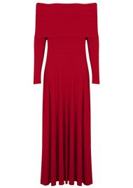KAMALI KULTURE Cowl Neck Flared Dress - Red