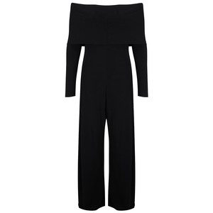 Cowl Neck Jumpsuit - Black