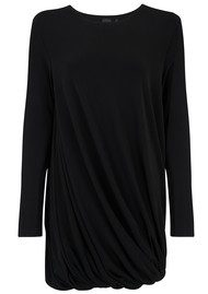 KAMALI KULTURE Long Sleeve Twist Mini Dress - Black
