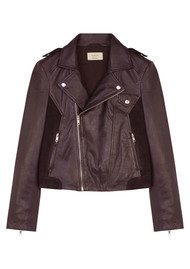 Ba&sh Pacino Leather Jacket - Bordeaux
