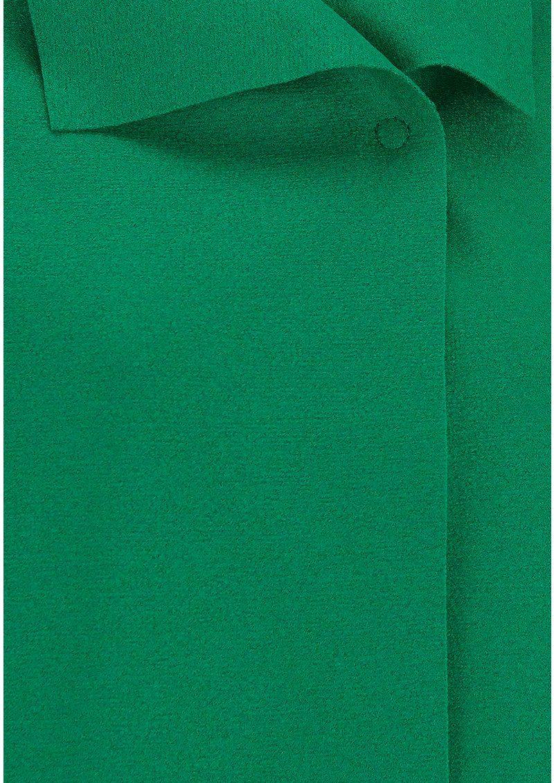 HARRIS WHARF Kimono Mantle Coat - Grass Green main image
