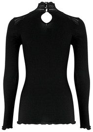Rosemunde Turtleneck Silk Blend T-shirt - Black