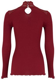 Rosemunde Turtleneck Silk Blend T-shirt - Cabernet