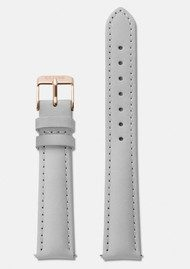 CLUSE Minuit Leather Strap - Grey & Rose Gold