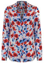 Lily and Lionel Girlfriend Silk Shirt - Poppy White