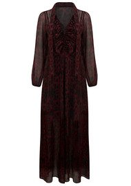 Lily and Lionel 70s Maxi Dress - Rosie Red