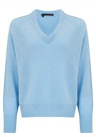 360 SWEATER Danielle Sweater - Bluebell