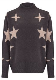 360 SWEATER Allyssa Sweater - Cement & Rose Quartz Star
