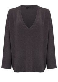 360 SWEATER Olivia Sweater - Cement