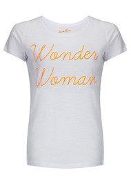 ON THE RISE Wonder Woman Tee - White & Orange
