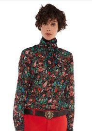Essentiel Ofra Floral Print Blouse - Mars Red