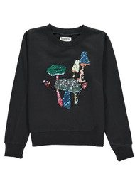 Essentiel Onegara Sequin Embroidered Sweater - Black