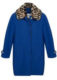 Essentiel Omensa Oversized Cocoon Coat - Monaco Blue