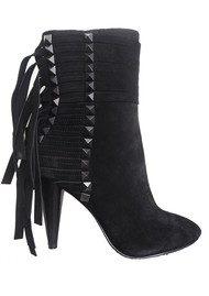 Ash Brave Suede Heeled Boots - Black