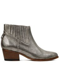Hudson London Ernest Metallic Leather Ankle Boot - Gold