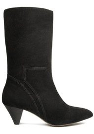 Hudson London Regina Suede Boot - Black