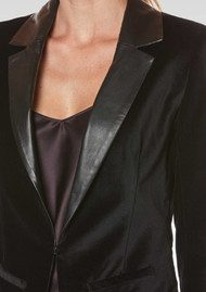 Paige Denim Camilla Velvet Jacket - Black