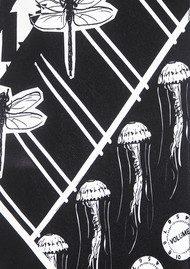 ROCKINS Classic Skinny Silk Scarf - Black