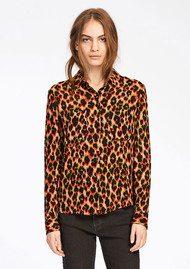 SAMSOE & SAMSOE Milly Shirt AOP - Leopard Rouge