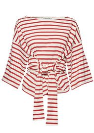 Great Plains Take It Away Belted Tee - Cream & Redcurrant