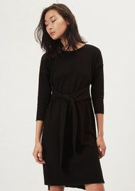 Great Plains Kitten Play Waist Tie Dress - Black