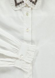 Essentiel Odakota Embellished Collar Shirt - White