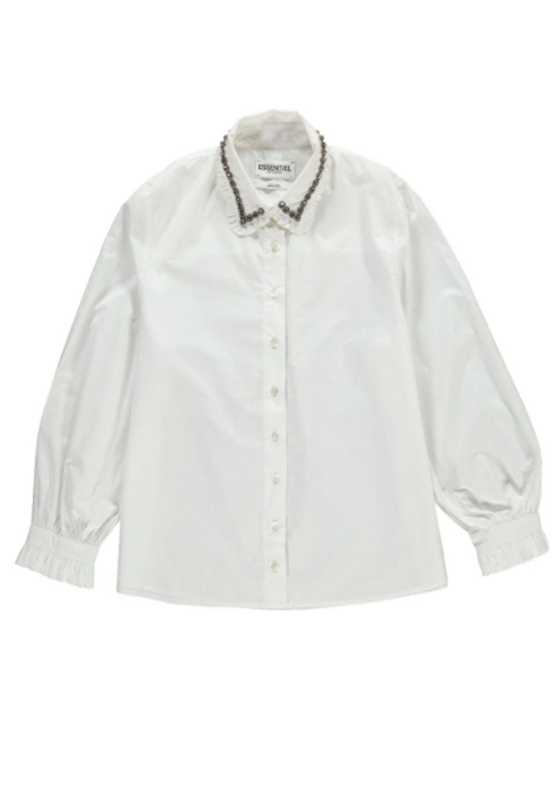 Essentiel Odakota Embellished Collar Shirt - White main image