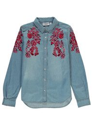Essentiel Odela Embroidered Denim Shirt - American Dream