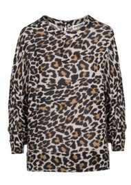 Essentiel Oakus Leopard Top - Monks Robe