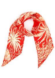 RIXO London Alexa Neckscarf - Red Oriental Jungle