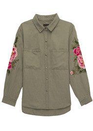 Rails Marcel Embroidery Shirt - Sage & Pink Floral