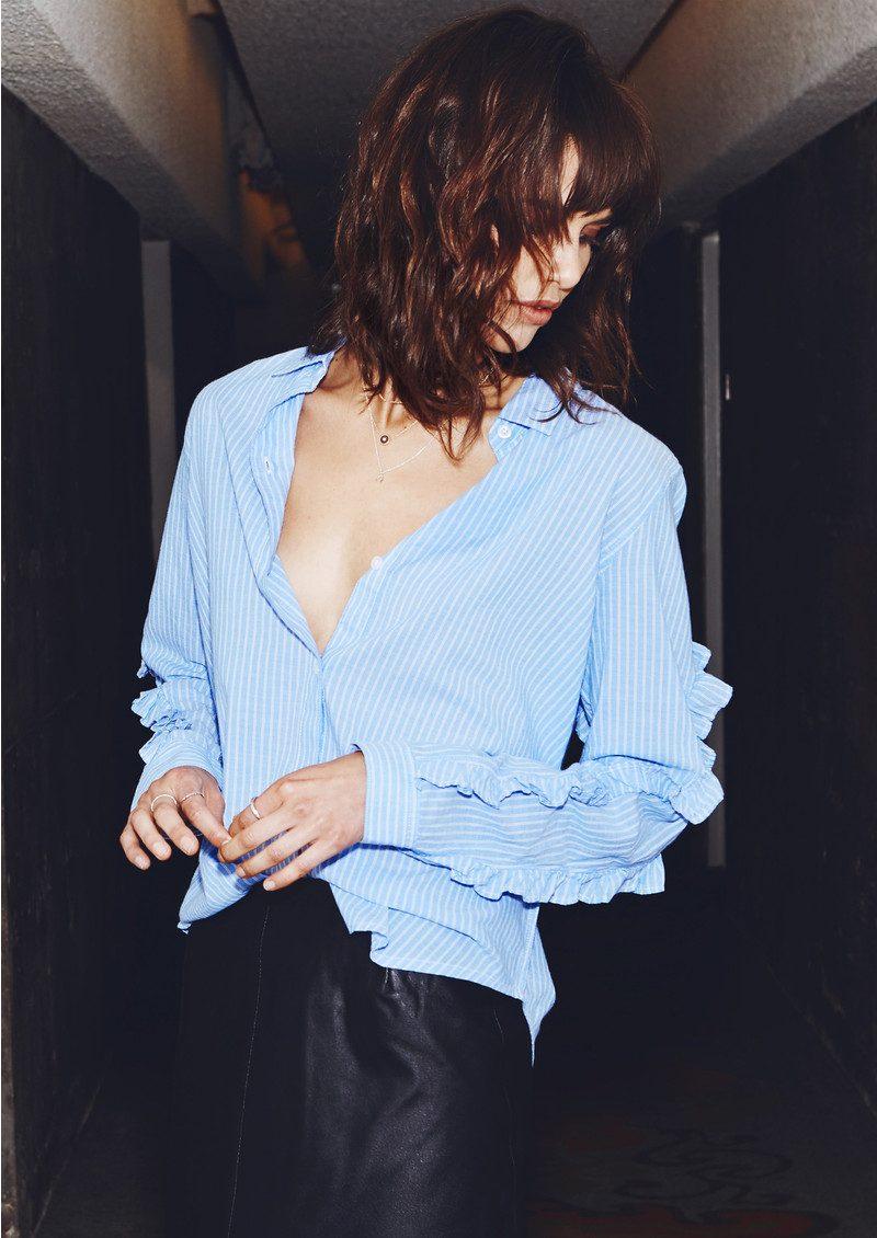 Rails Lizzi Shirt - Bellflower White Stripe main image