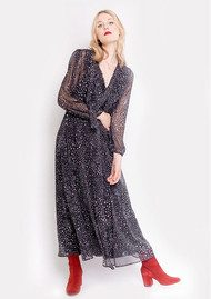 Lily and Lionel 70s Maxi Dress - Celeste Black
