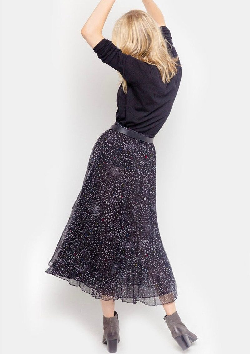 Lily and Lionel Pleated Midi Skirt - Celeste Black main image