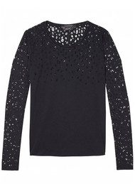 Maison Scotch Long Sleeve Burnout Tee - Colour 09