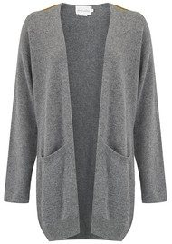 ABSOLUT CASHMERE Military Badge Cardigan - Grey